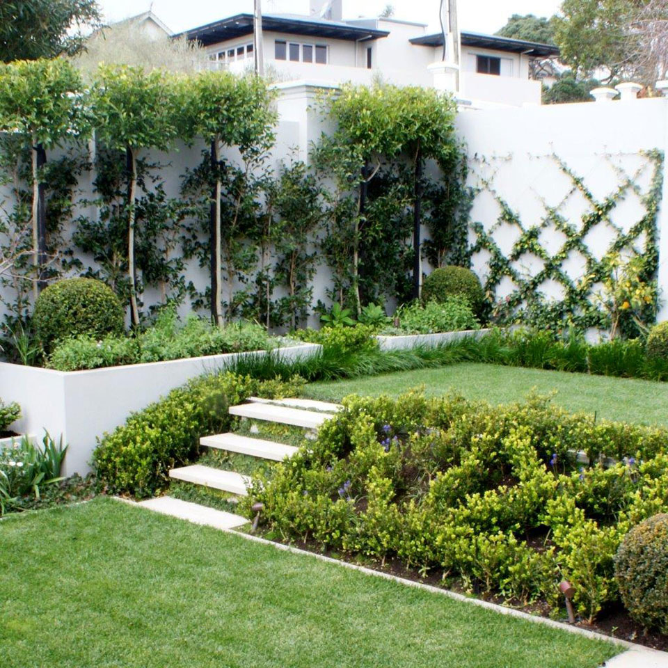 Formal garden landscape design garden care services and for Nz landscape