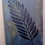 Steel fern stencil screen