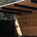 Painted timber pergola