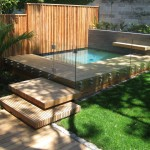 Plunge pool in timber decking