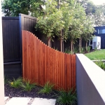 Curved, feature fence