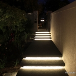 Outdoor steps lighting