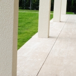 Slot drain in travertine pavers