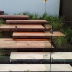 Contemporary floating steps