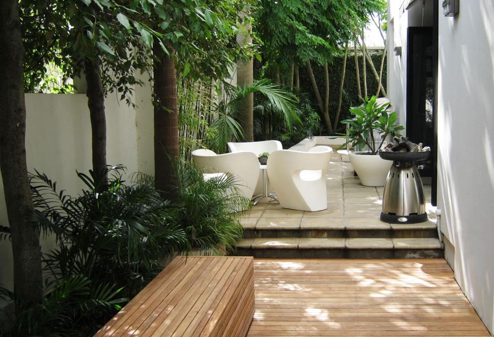 Courtyard garden - Landscape design, garden care services ...