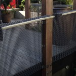 Steel mesh balustrade