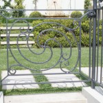 Architectural galvanised steel fence and gate