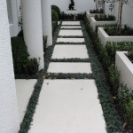 Formed white concrete planters