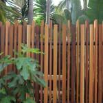 Architectural cedar fence