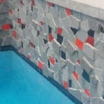 Mosaic feature wall