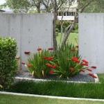 Formed concrete wall