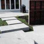 Stepping stones through Mondo grass