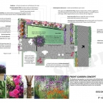 Concept for Flowering Courtyard design